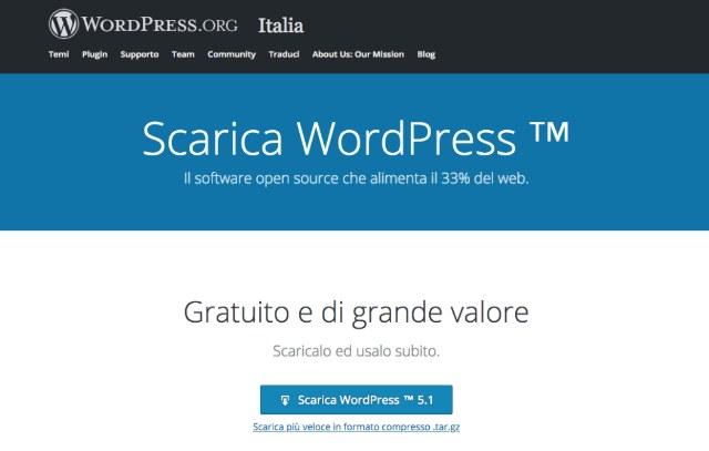 Installare WordPress velocemente in pochi semplici passaggi